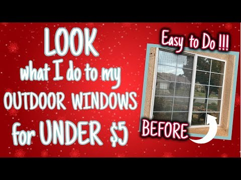 LOOK what I do to my OUTDOOR WINDOWS for UNDER $5 | AWESOME DIY