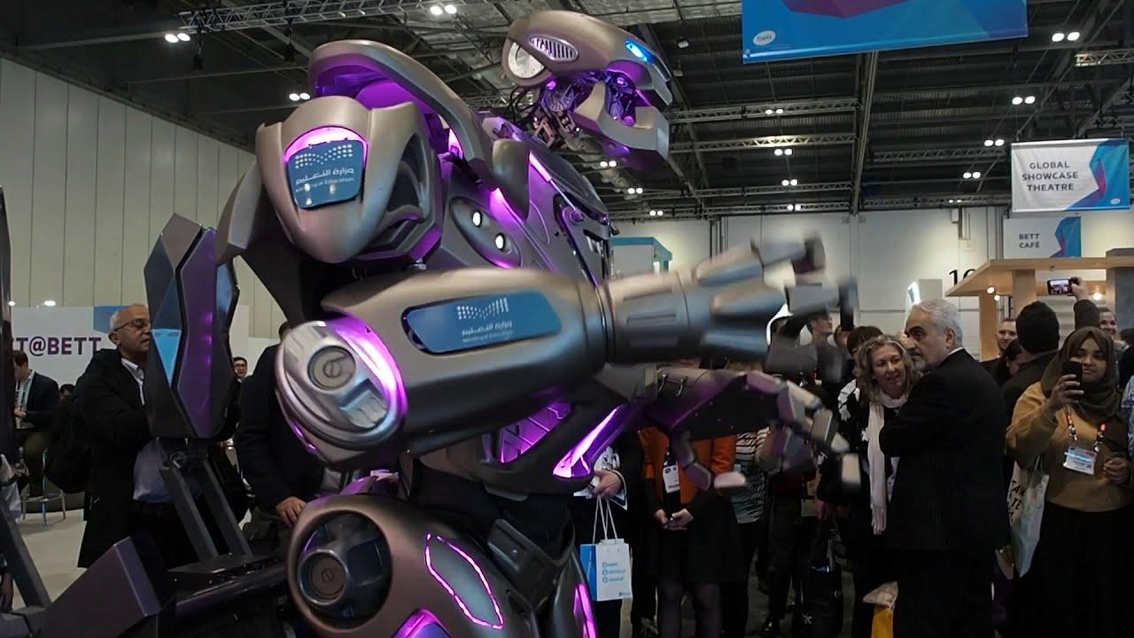 Titan The Robot at the Bett Exhibition 2020.