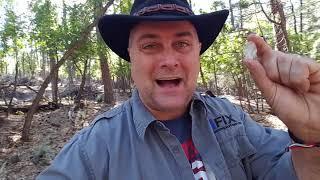 Hiking a diamond hunting Diamond point in Payson Arizona