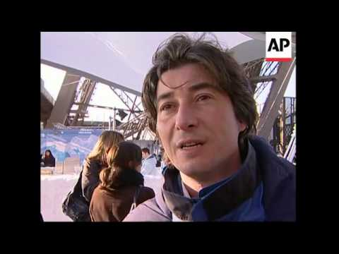Polar exhibition under historic landmark