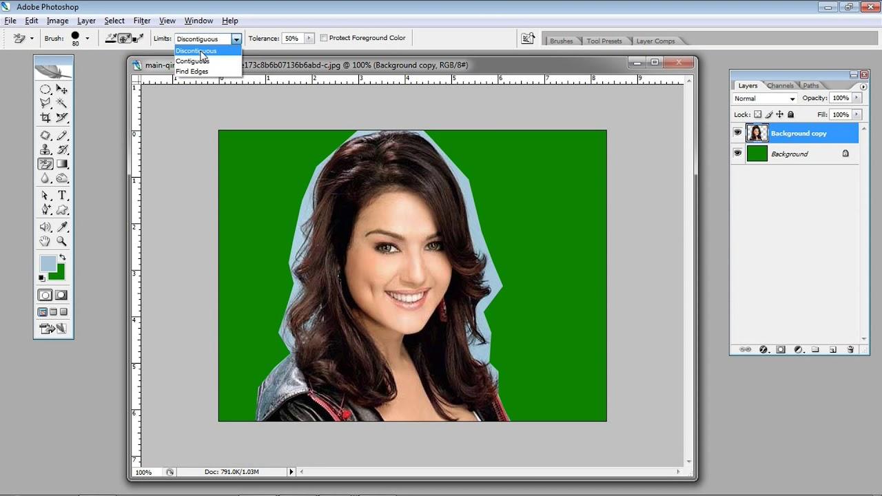 Hair cut ka Aasan Tarika photoshop 11.11 and Cs series hindi and urdu