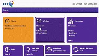 Веб-інтерфейс адміністратора БТ смарт хаб (БТ домашній концентратор 6) маршрутизатор. Як ви вимкніть WiFi?