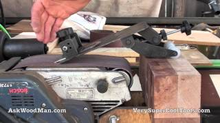 2 Of 3 - Block Plane Sharpening: Belt Sander And The Ultimate Sharpening Jig