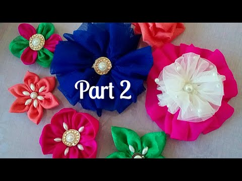 Flower Making From Cloth Cloth Flower Making Flower Making With Cloth Net Flower Making Diy Youtube