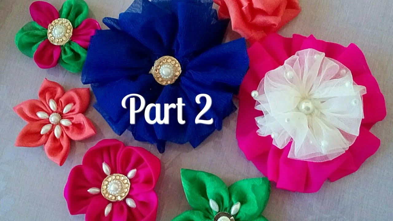 Flower Making From Cloth Cloth Flower Making Flower Making