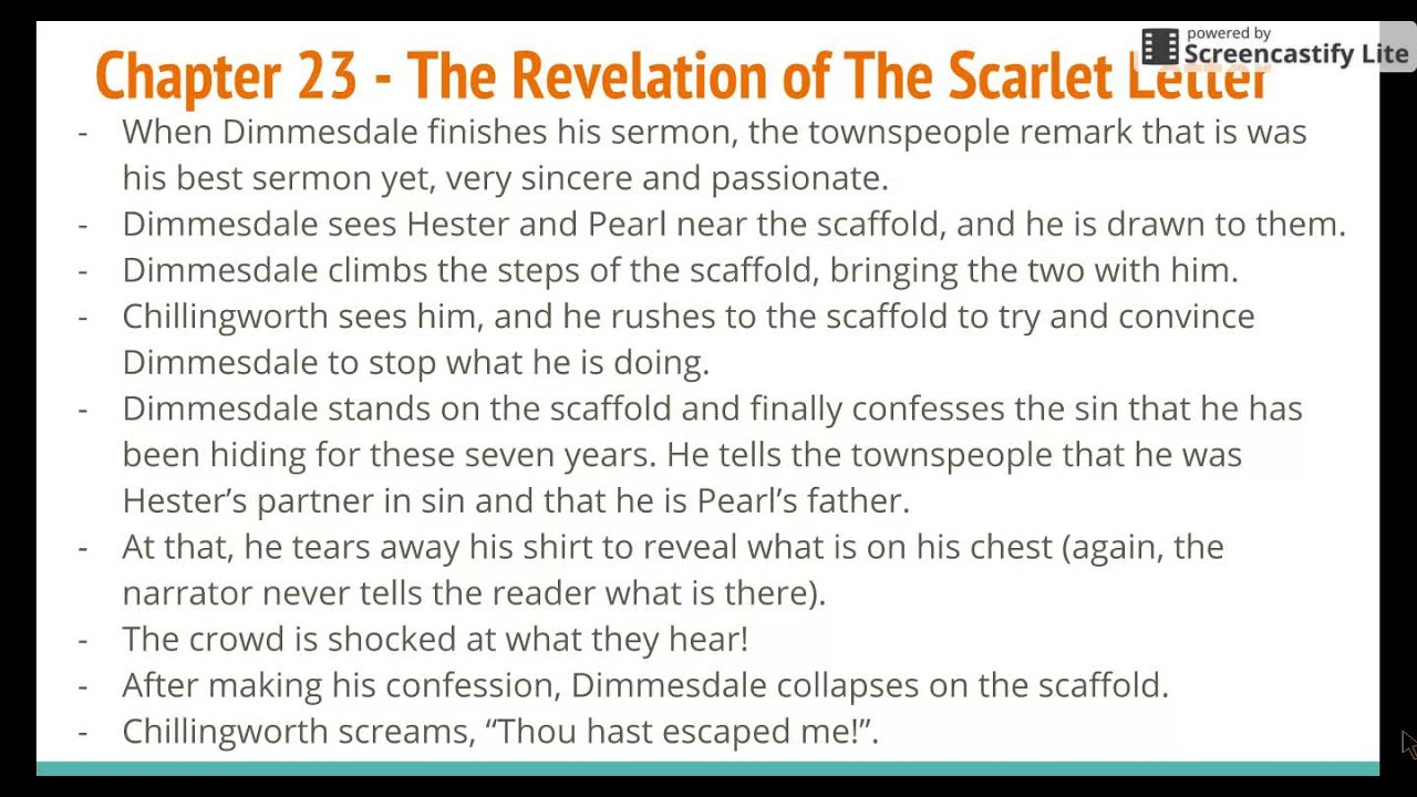 an analysis of chapter 12 of the book the scarlet letter Chapter 12 summary and analysis the scarlet letter chapters 9-12 questions and answers how does dimmesdale punish himself in chapter 11 of the scarlet letter.