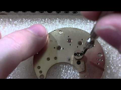 How I remove a jewel setting from a pocket watch, Watltham model 1857