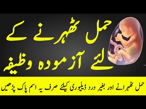 Hamal Aur Delivery K Liye Wazifa | Pregnancy K Liye Wazifa | The Urdu Teacher