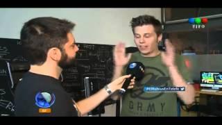 Entrevista a El Rubius en Telefe Noticias - Argentina (09/04/2015)