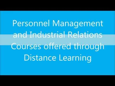 Personnel Management and Industrial Relations courses through distance education in India