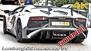 Moving Lamborghini Aventador SV  (Sound) [4K]