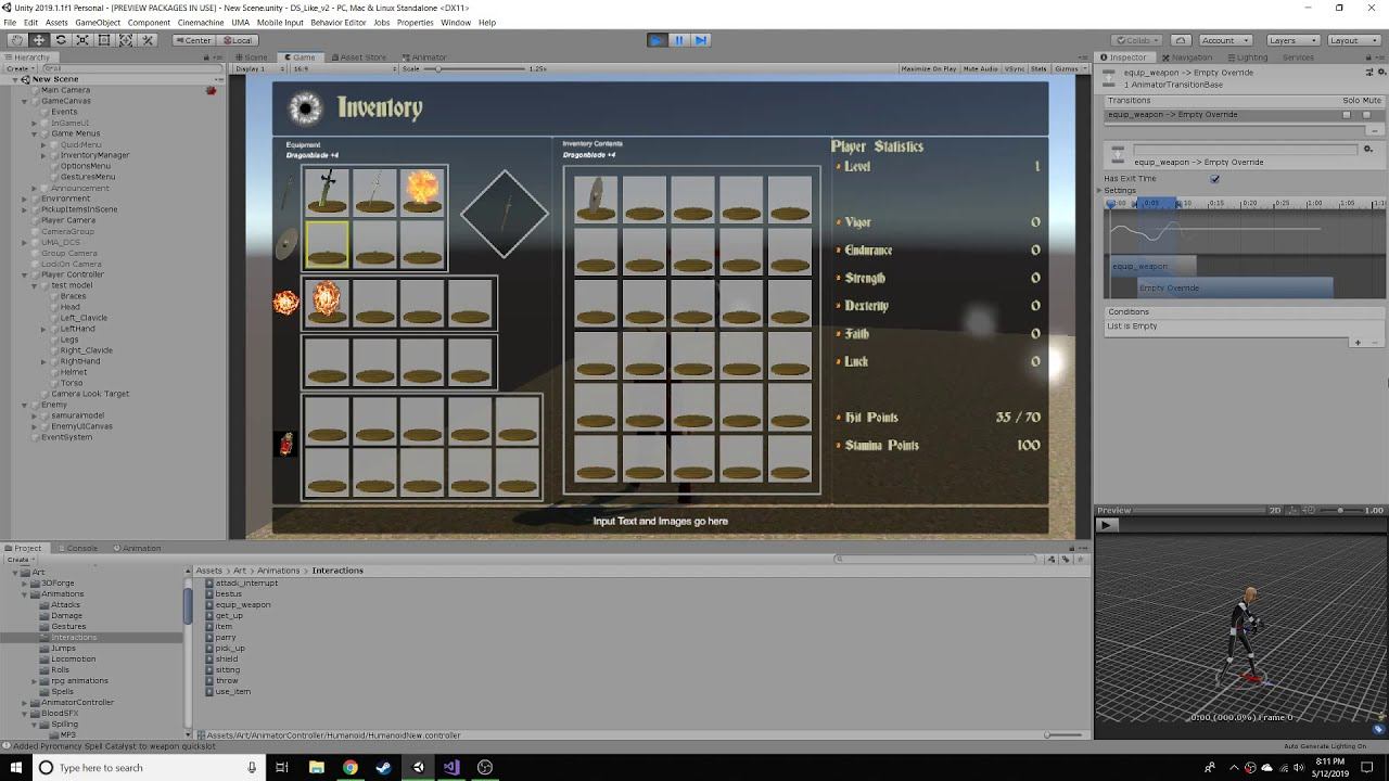 Damage and Stats Early demo