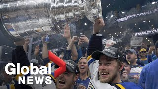 St. Louis fans celebrate after Blues win first-ever Stanley Cup