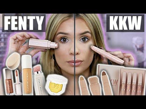 FENTY vs KKW Full Face Comparison! WHAT'S BETTER?!