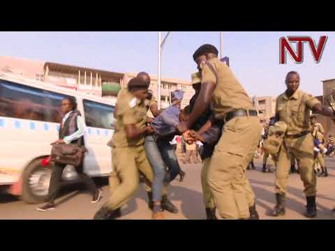 Kawempe youth protest over high unemployment, block roads in Wandegeya
