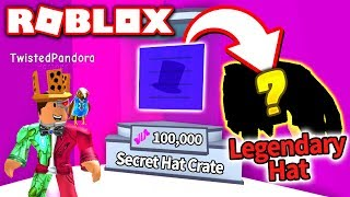 I GOT A LEGENDARY HAT FROM THE *SECRET* HAT CRATE in Bubble Gum Simulator Update!! (Roblox)
