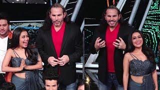 When Neha Kakkar Met WWE Superstar Matt Hardy & Badshah On the sets of Indian Idol 10
