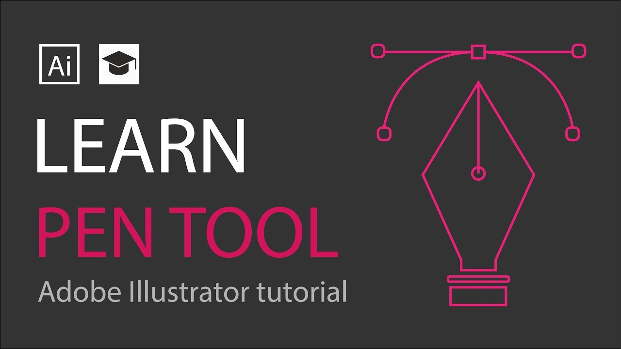 learn how to use pen tool adobe illustrator tutorial pen tool