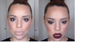 Work Makeup Tutorial (by request) w/ bonus Burgundy Lip for Holiday Parties!
