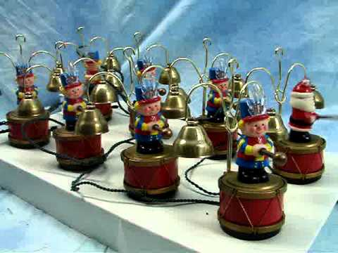 Plays 35 Different Songs Santa's Elf Drumming in Harmony Christmas Tree Ornaments