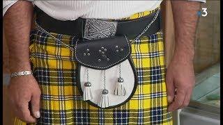 Insolite : dans l'Allier, des Écossais confectionnent des kilts aux couleurs de l'ASM