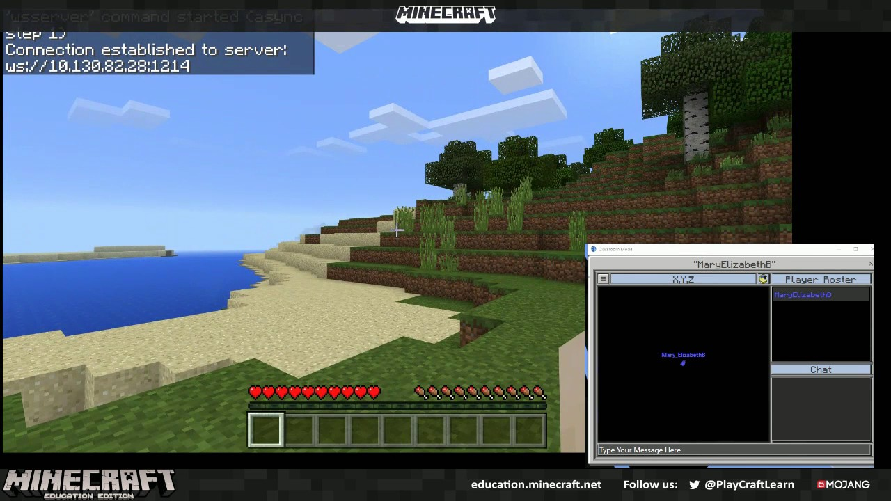 Connecting Classroom Mode for Minecraft. Minecraft Education Edition