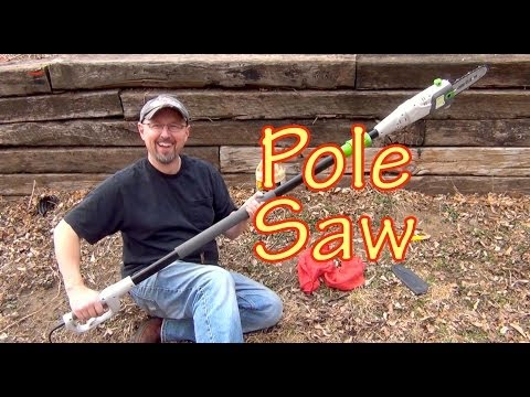 Harbor Freight Pole Saw Setup and Demonstration