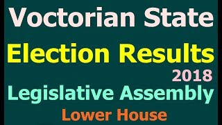 Victorian Election Results 2018. Victorian State Legislative Assembly Election Results ALP/LIB