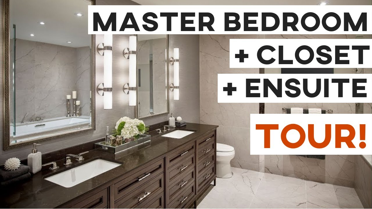 Master Bedroom Closet Ensuite Tour Youtube