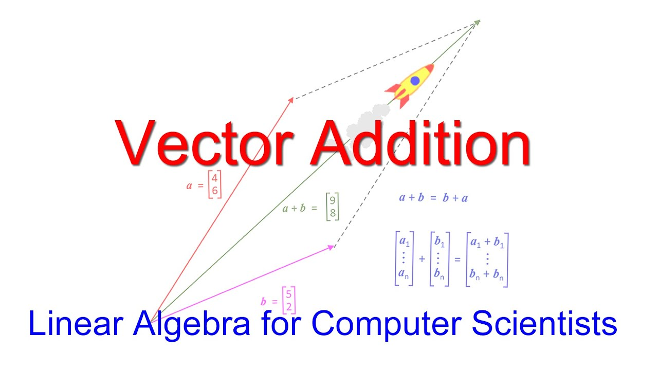 Linear Algebra For Computer Scientists 3 Vector Addition Youtube Adding two vectors linear algebra
