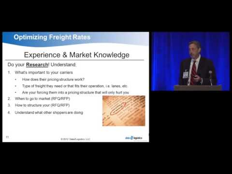 Data2Logistics Supply Chain and Logistics Summit Presentation Freight Transportation Rates