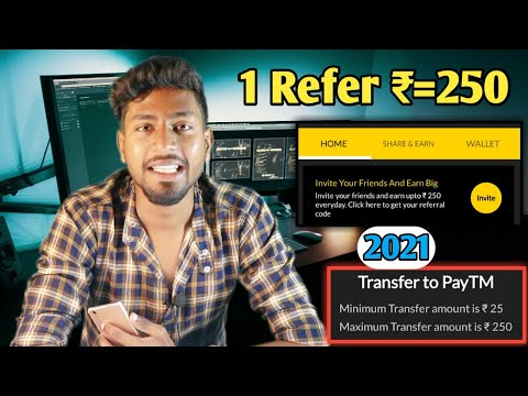 1 Refer ₹= 250💰Minimum Withdrawal Limit ₹=25 | 2021 | Refer And Earn Paytm Cash 2021💵 With Proof