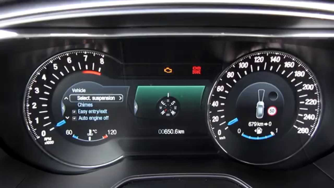 Ford Mondeo 2015 Information Displays Dashboard Youtube