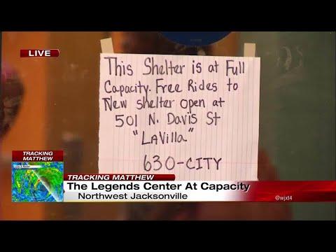 Legends Center in northwest Jacksonville at capacity as storm shelter