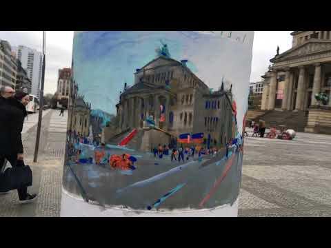 Circular Paintings Berlin Gendarmenmarkt