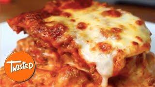 Garlic Bread Lasagna Recipe   Easy Lasagna Recipes   Homemade Dinners   Twisted