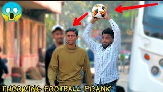 Throwing Football at People Prank ! || MOUZ PRANK
