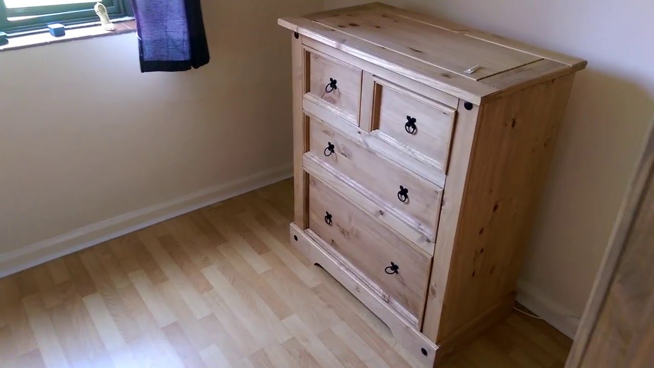 corona furniture set wardrobe chest of drawers bedside table assembled by flat pack. Black Bedroom Furniture Sets. Home Design Ideas