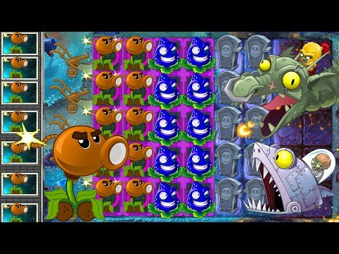 Plants vs Zombies 2 Mod: COCONUT CANNON vs STRAWBURST vs ALL ZOMBOSS FIGHT!