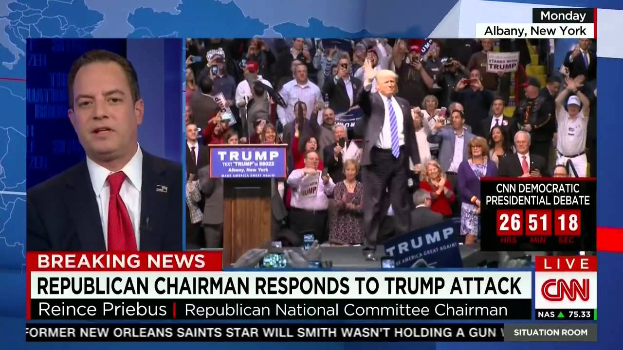 Rnc Chairman Reince Priebus On Cnns Situation Room Youtube . Cnn Situation  Room Live Stream ... Part 23