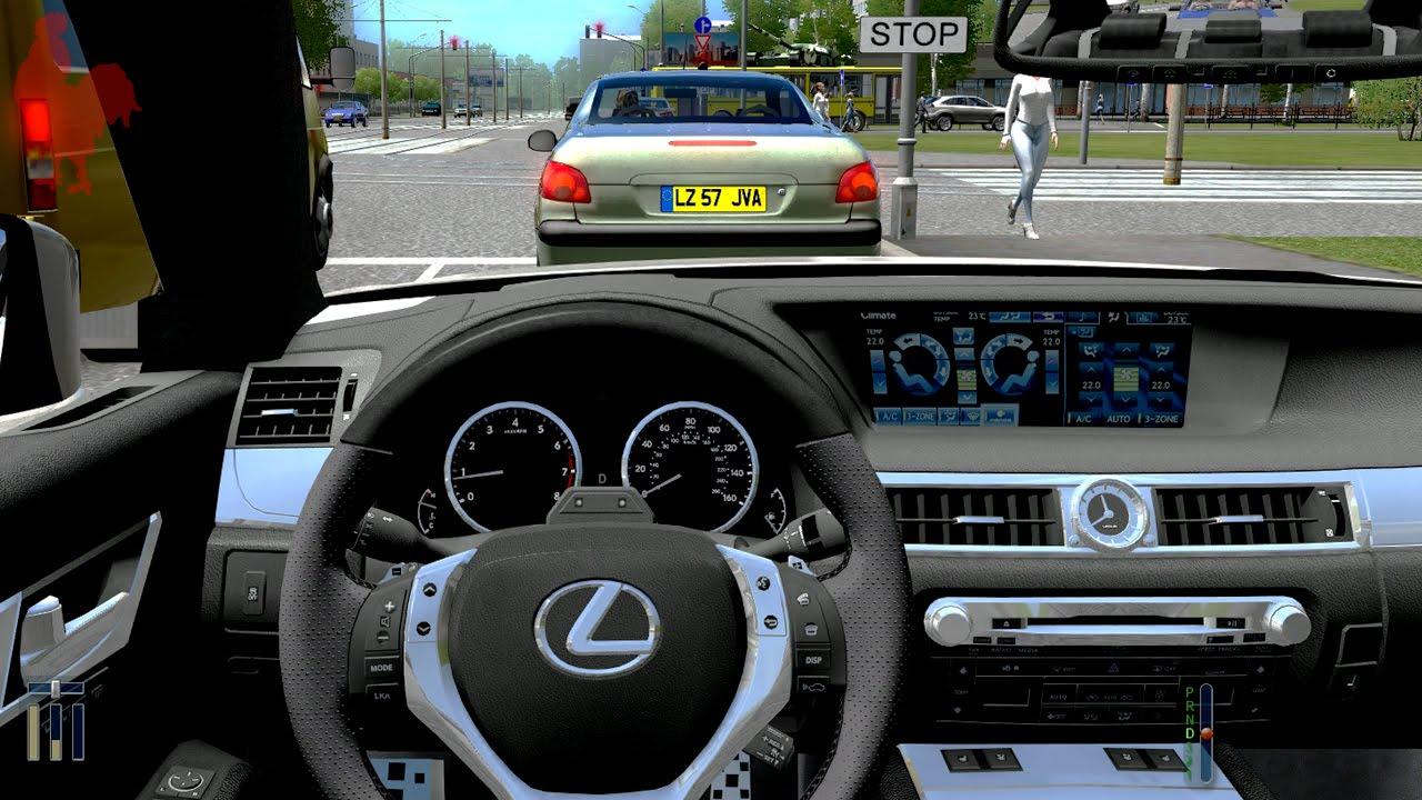 city car driving 1.4.1 - lexus gs 350 f - youtube