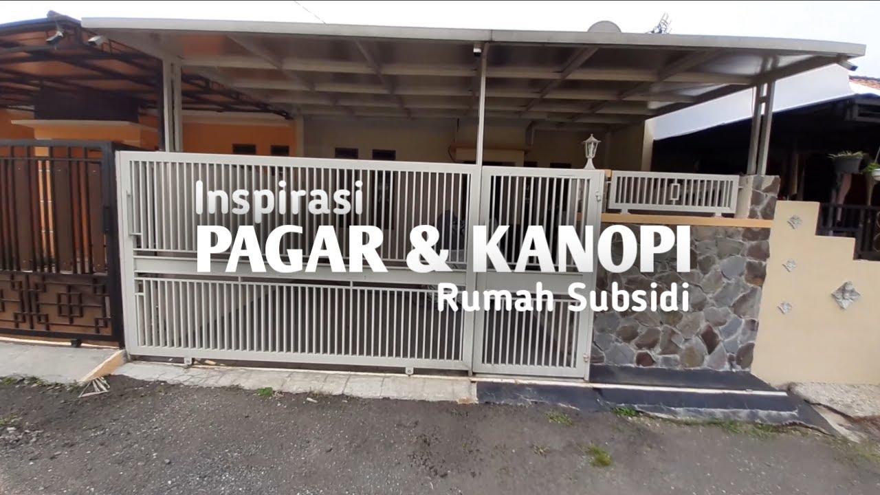 CONTOH PAGAR RUMAH SUBSIDI MINIMALIS || 13 DESIGN PAGAR KANOPI MINIMALIS CARA HITUNG ESTIMASI HARGA - YouTube