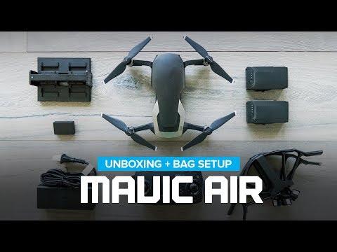 DJI Mavic Air Unboxing + Bag Setup