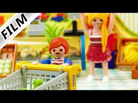 Playmobil Film deutsch | Julian geht ganz alleine EINKAUFEN Was kauft er? Kinderserie Familie Vogel