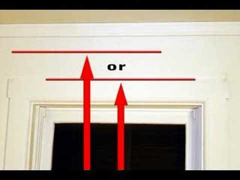 How To Measure For Curtains And Window Treatments - Youtube