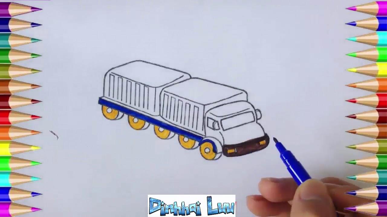 Comment Dessiner Un Camion Avec Des Couleurs Belles Pour Bébé