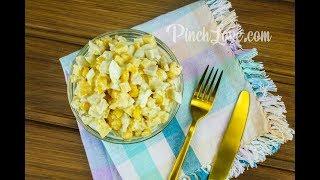 ОЧЕНЬ ВКУСНЫЙ салат с курицей, кукурузой, сыром и яйцами.