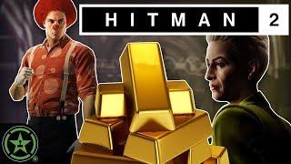 The Clown Heist - Hitman 2: The Bank   Let's Watch