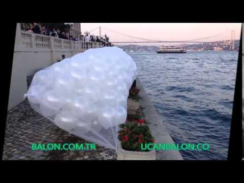 uçan ışıklı balonlar