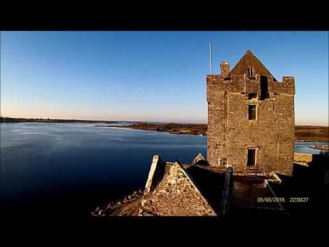 dunguaire castle , Galway , drone view